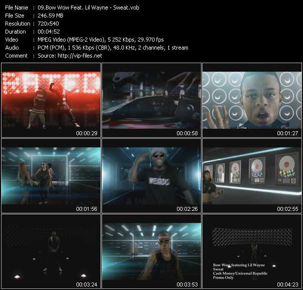 video Sweat screen