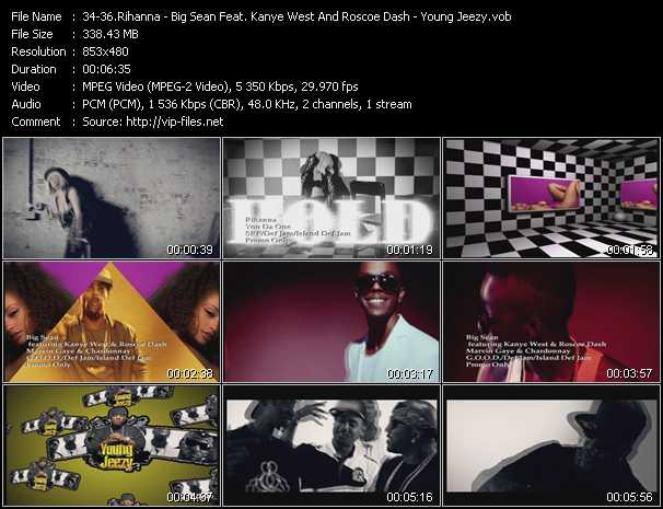 Rihanna - Big Sean Feat. Kanye West And Roscoe Dash - Young Jeezy video screenshot