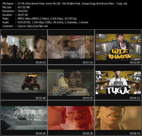 Chris Brown Feat. Kevin McCall - Wiz Khalifa Feat. Snoop Dogg And Bruno Mars - Tyga video screenshot