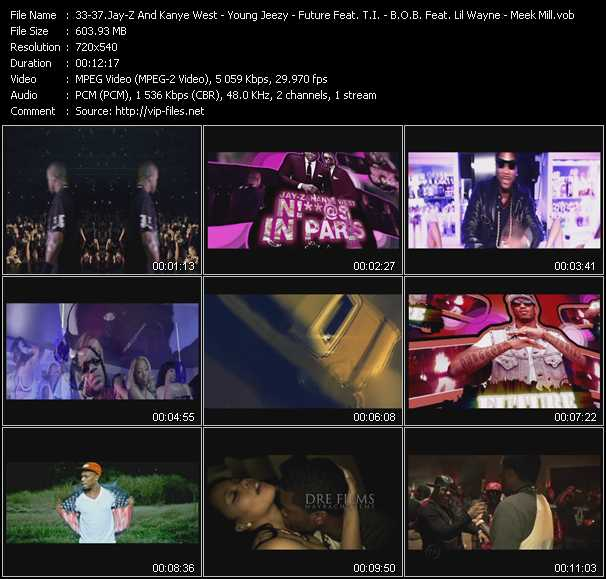 Jay-Z And Kanye West - Young Jeezy Feat. 2 Chainz - Future Feat. T.I. - B.O.B. Feat. Lil' Wayne - Meek Mill Feat. Young Chris video screenshot
