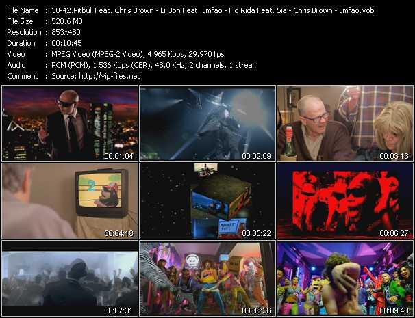 Pitbull Feat. Chris Brown - Lil' Jon Feat. Lmfao - Flo Rida Feat. Sia - Chris Brown - Lmfao video screenshot