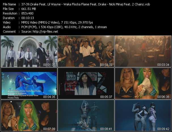 Drake Feat. Lil' Wayne - Waka Flocka Flame Feat. Drake - Nicki Minaj Feat. 2 Chainz video screenshot