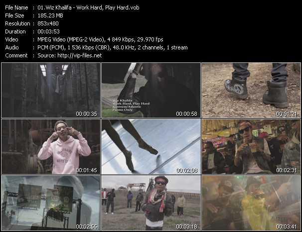 video Work Hard, Play Hard screen
