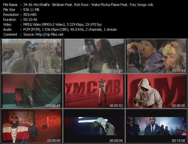 Wiz Khalifa - Birdman Feat. Rick Ross - Waka Flocka Flame Feat. Trey Songz video screenshot
