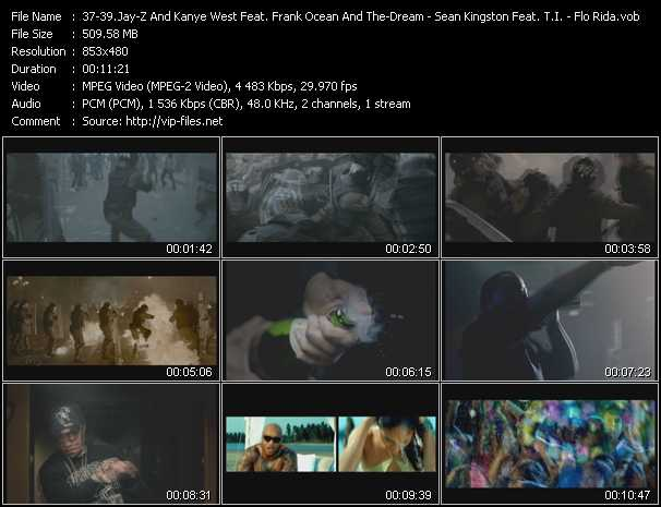 Jay-Z And Kanye West Feat. Frank Ocean And The-Dream - Sean Kingston Feat. T.I. - Flo Rida video screenshot