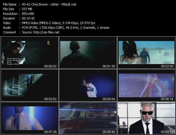Chris Brown - Usher - Pitbull video screenshot