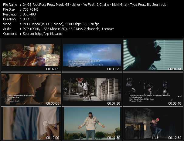 Rick Ross Feat. Meek Mill - Usher Feat. Rick Ross - Yg Feat. 2 Chainz And Nipsey Hussle - Nicki Minaj Feat. Chris Brown - Tyga Feat. Big Sean video screenshot
