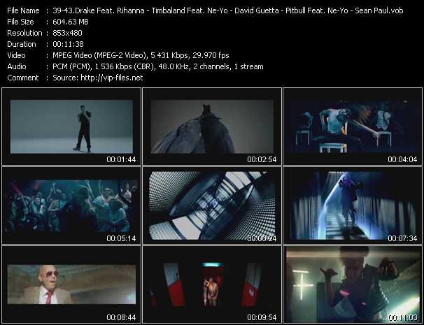 Drake Feat. Rihanna - Timbaland Feat. Ne-Yo - David Guetta Feat. Chris Brown And Lil' Wayne - Pitbull Feat. Ne-Yo, Afrojack And Nayer - Sean Paul Feat. DJ Ammo video screenshot