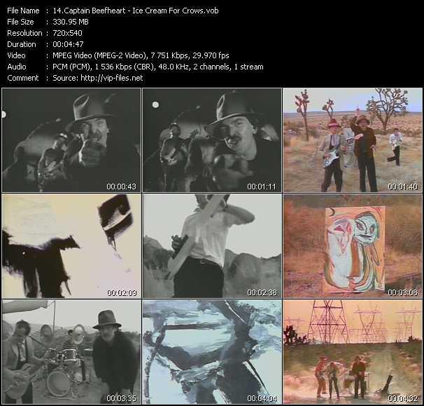 Captain Beefheart video screenshot
