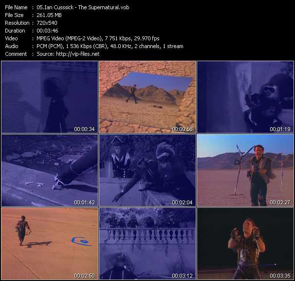 Ian Cusssick video screenshot