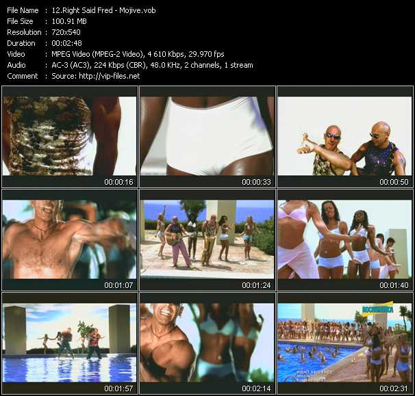 Right Said Fred video screenshot