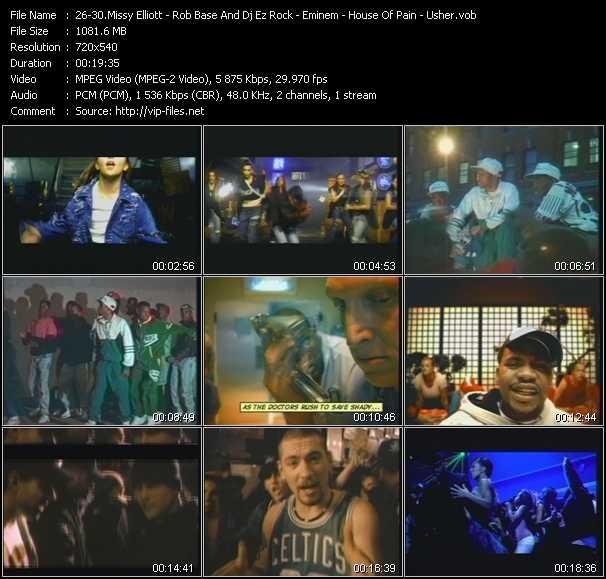 Missy Elliott - Rob Base And Dj E-Z Rock - Eminem - House Of Pain - Usher video screenshot