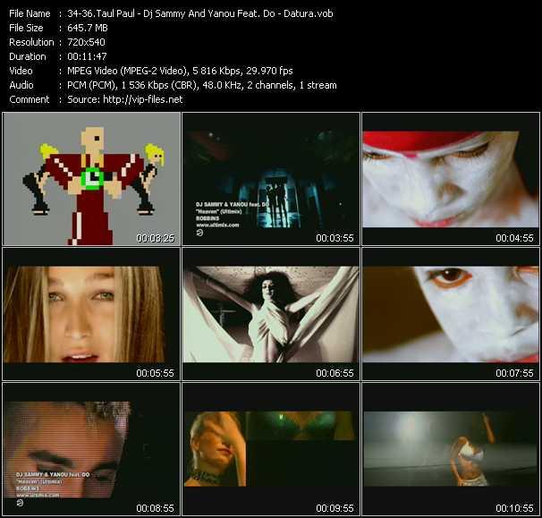 Taul Paul - Dj Sammy And Yanou Feat. Do - Datura video screenshot