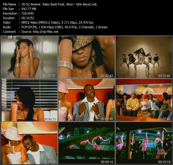 Amerie - Baby Bash Feat. Akon - Girls Aloud video screenshot