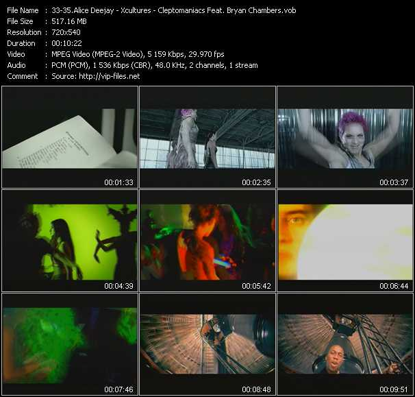 Alice Deejay - Xcultures - Cleptomaniacs Feat. Bryan Chambers video screenshot