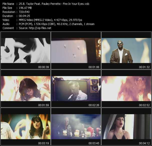B. Taylor Feat. Pauley Perrette video screenshot
