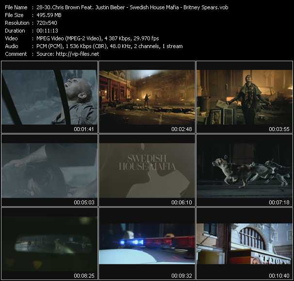 Chris Brown Feat. Justin Bieber - Swedish House Mafia - Britney Spears video screenshot