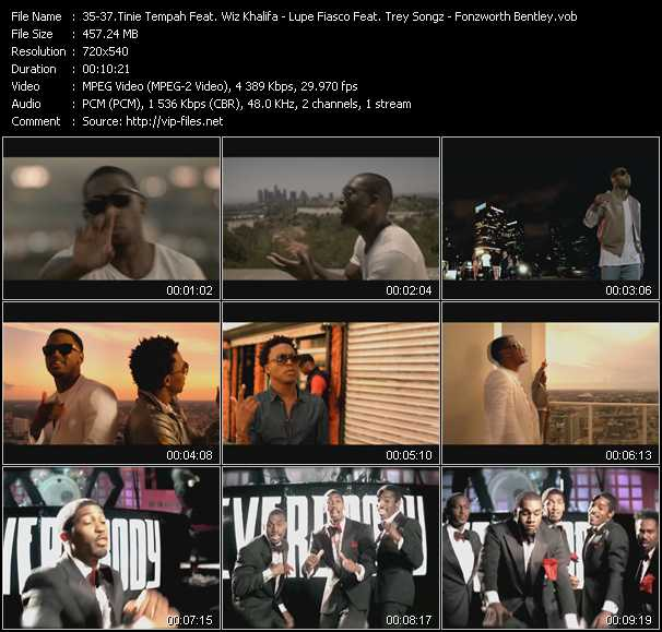 Tinie Tempah Feat. Wiz Khalifa - Lupe Fiasco Feat. Trey Songz - Fonzworth Bentley Feat. Kanye West And Andre 3000 video screenshot