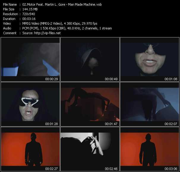 Motor Feat. Martin L. Gore video screenshot