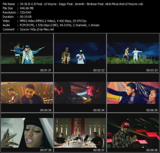 B.O.B. Feat. Lil' Wayne - Diggy Feat. Jeremih - Birdman Feat. Nicki Minaj And Lil' Wayne video screenshot