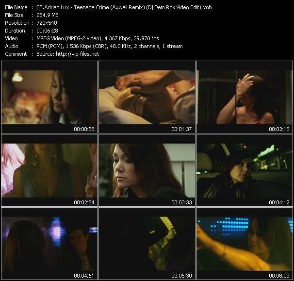 video Teenage Crime (Axwell Remix) (Dj Dem Rok Video Edit) screen