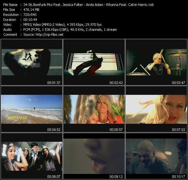 Bomfunk MC's Feat. Jessica Folker - Anda Adam - Rihanna Feat. Calvin Harris video screenshot