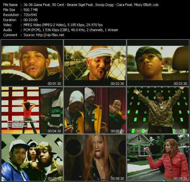Game Feat. 50 Cent - Beanie Sigel Feat. Snoop Dogg - Ciara Feat. Missy Elliott video screenshot