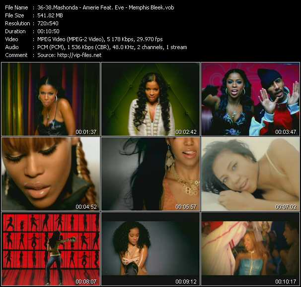 Mashonda - Amerie Feat. Eve - Memphis Bleek video screenshot