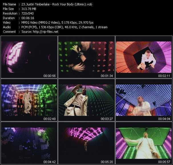 video Rock Your Body (Ultimix) screen