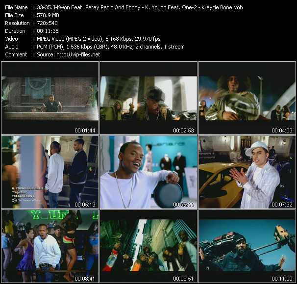 J-Kwon Feat. Petey Pablo And Ebony Eyez - K. Young Feat. One-2 - Krayzie Bone video screenshot