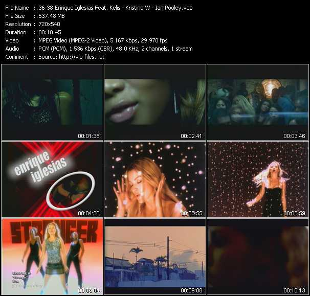 Enrique Iglesias Feat. Kelis - Kristine W - Ian Pooley video screenshot