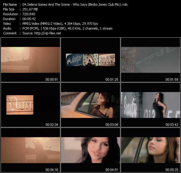Selena Gomez And The Scene video screenshot