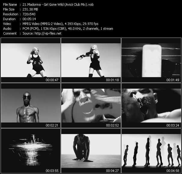 video Girl Gone Wild (Avicii Club Mix) (Vj Tony MacAroni Video Mix) screen