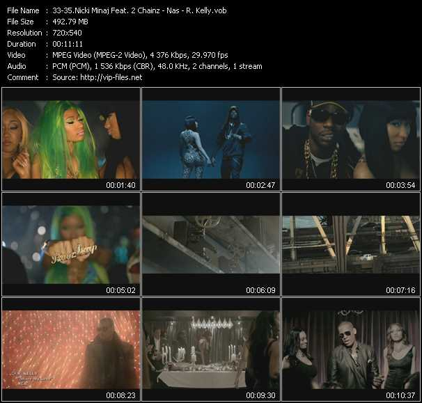 Nicki Minaj Feat. 2 Chainz - Nas - R. Kelly video screenshot