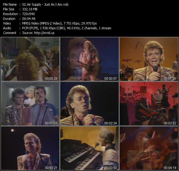 Air Supply video screenshot
