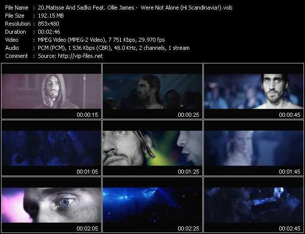 Matisse And Sadko Feat. Ollie James video screenshot