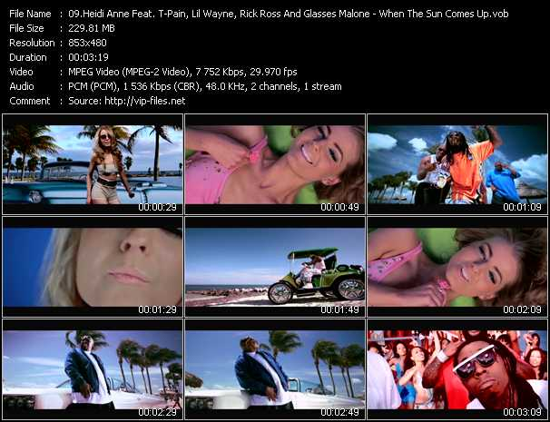 Heidi Anne Feat. T-Pain, Lil' Wayne, Rick Ross And Glasses Malone video screenshot