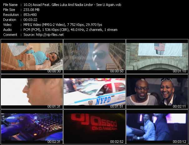 Dj Assad Feat. Gilles Luka And Nadia Lindor video screenshot