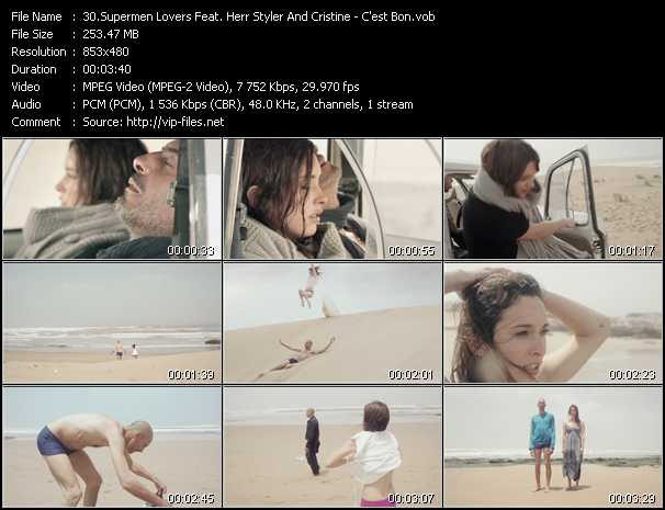 Supermen Lovers Feat. Herr Styler And Cristine video screenshot