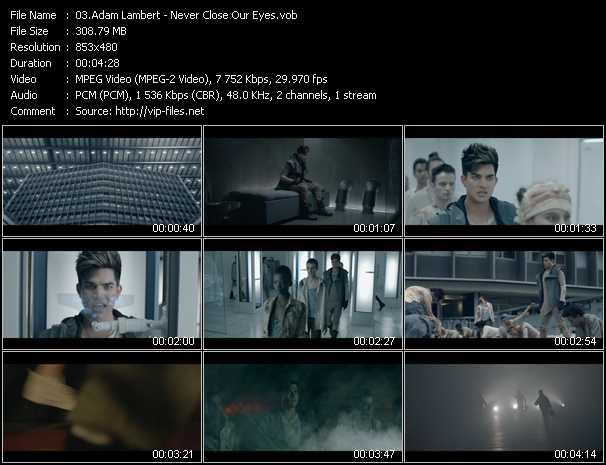 Adam Lambert video screenshot