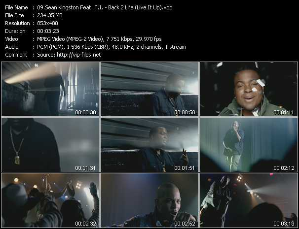 video Back 2 Life (Live It Up) screen