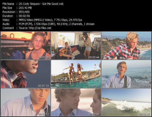 Cody Simpson video screenshot