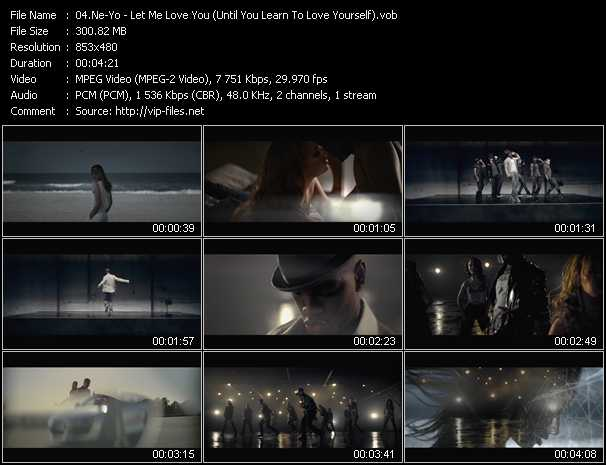 video Let Me Love You (Until You Learn To Love Yourself) screen