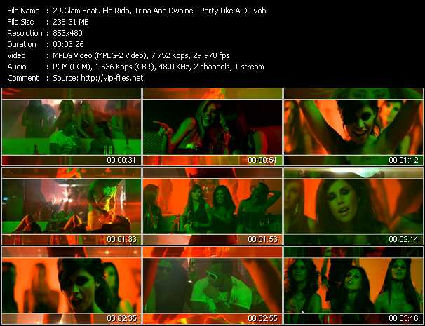 Glam Feat. Flo Rida, Trina And Dwaine video screenshot