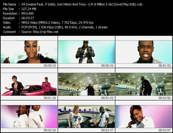 Dwaine Feat. P. Diddy (Puff Daddy), Keri Hilson And Trina video screenshot