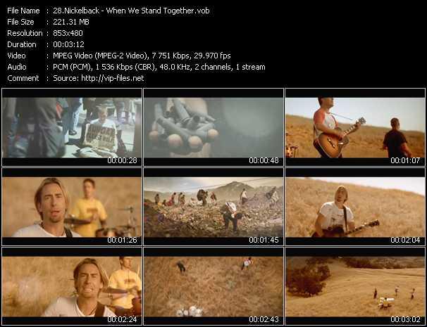 Nickelback video screenshot
