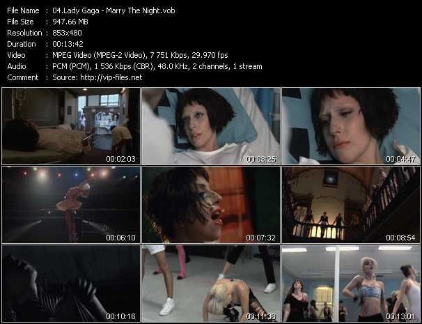 video Marry The Night screen