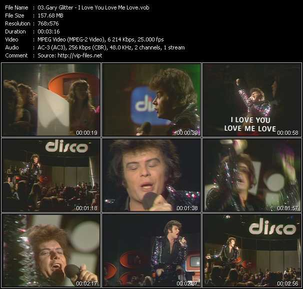 Gary Glitter video screenshot