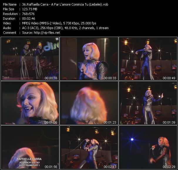 Raffaella Carra video screenshot