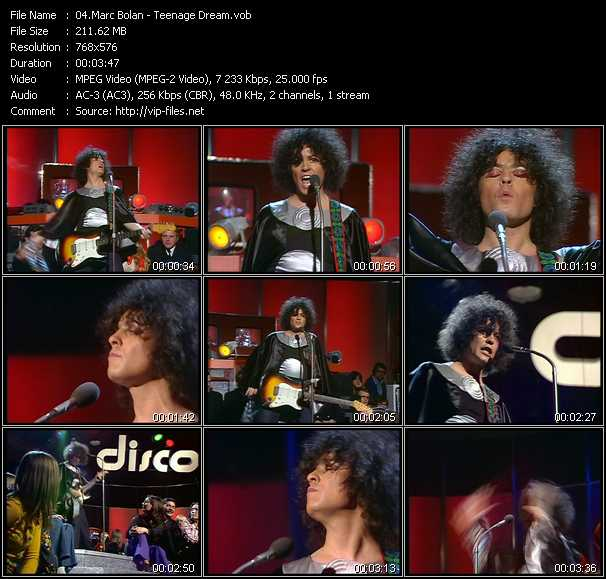 Marc Bolan video screenshot
